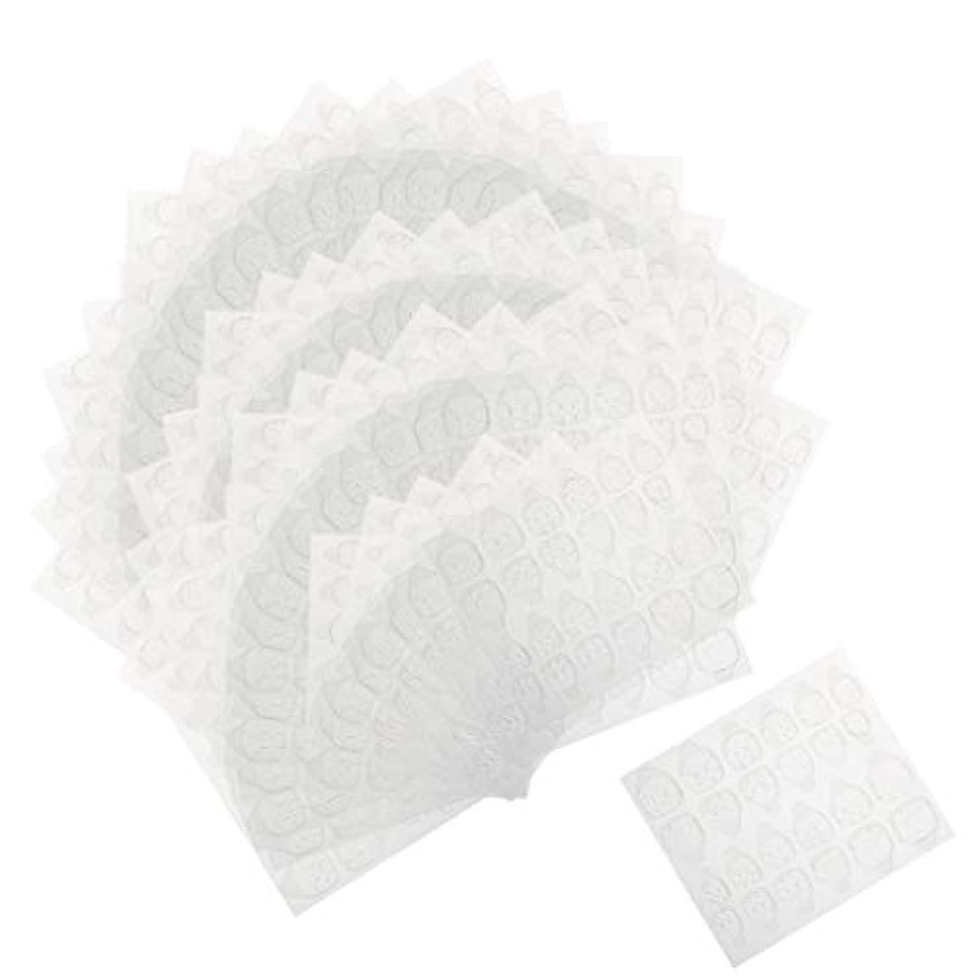 イルそれぞれやりがいのあるPerfeclan ネイルタブ ネイル接着剤ステッカー マニキュアタブ 両面接着 透明 両面テープ 約240ピースセット