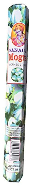 メタリックあまりにもあまりにもArabianジャスミンフラワー( Mogra ) Incense Sticksインドから – 20 Sticks – madeからNatural Scented Oil – Kanaiyaブランドby tikkalife