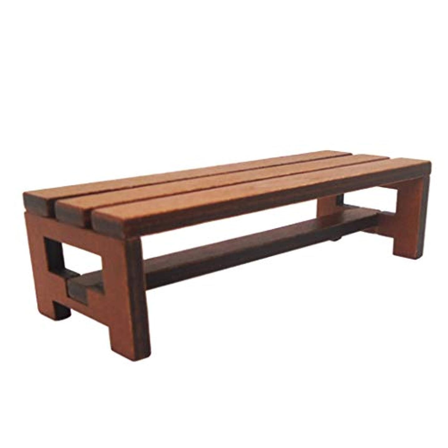 サリー眠るテストToygogo ミニチュア チェア 椅子 ベンチ 1/12 ドールハウス家具 約12x4.5x3.5cm