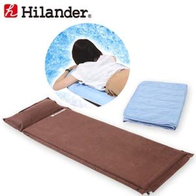 提供された便利さエスニックHilander(ハイランダー) スエードインフレーターマット9.0cm+冷感敷パット 2点セット シングル