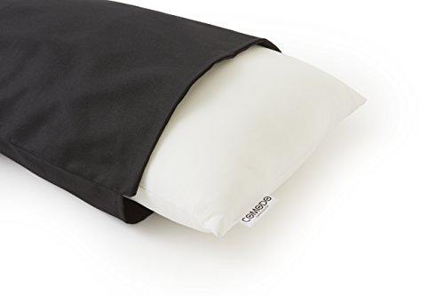 COMODO 抱き枕無地カバー 上質オックスフォード生地仕様 (160cm x 50cm タイプ, ブラック)