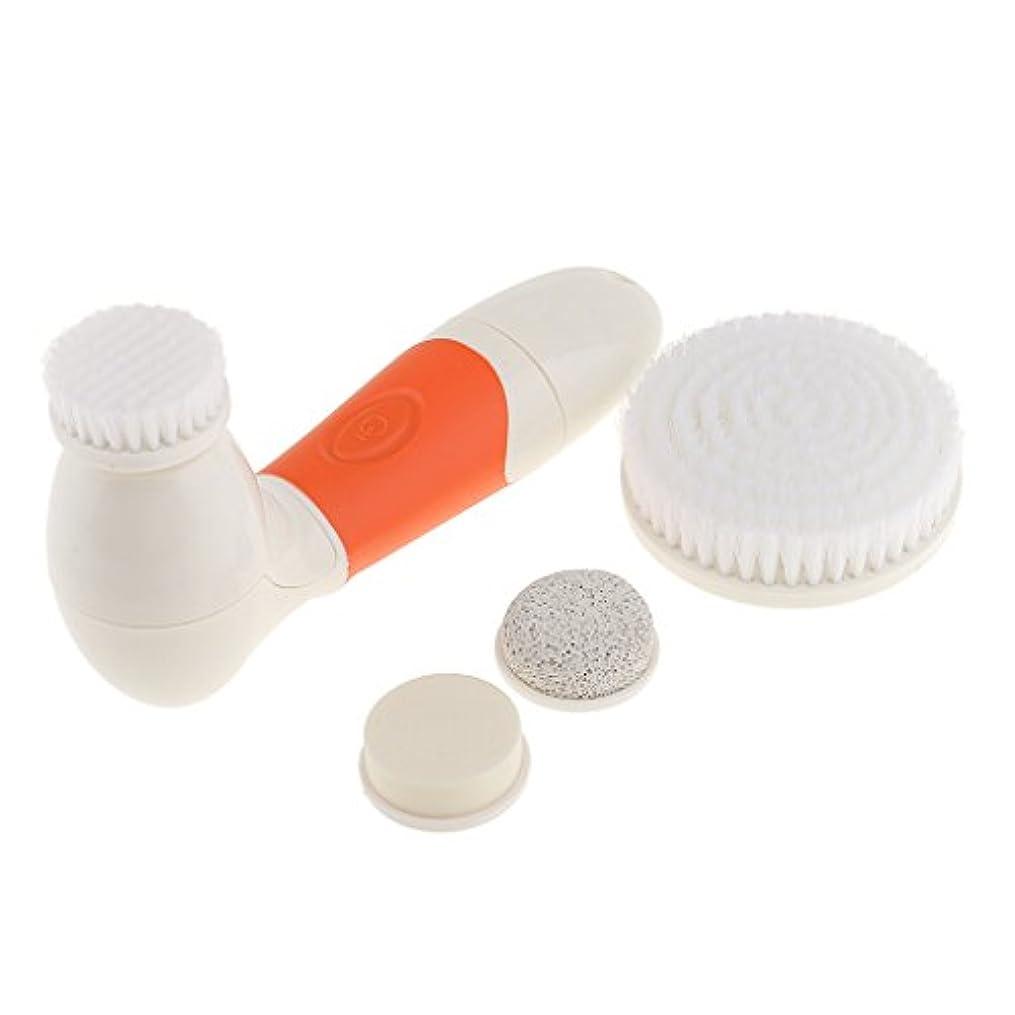 装備する累計年金受給者四合一多機能 防水 毛穴吸引器美顔器 毛穴ケア にきび/黒ずみ/粗い毛穴を改善 マッサージ器3色 - オレンジ