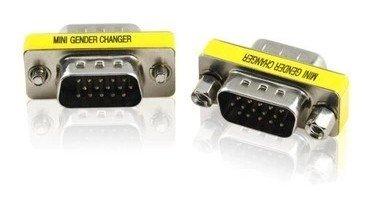 【PLOVER】 ミニDサブ 15ピン 小型アダプタ ( オス - オス ) DE-15 VGA端子 アナログRGB [ 2個セット ] PR-314