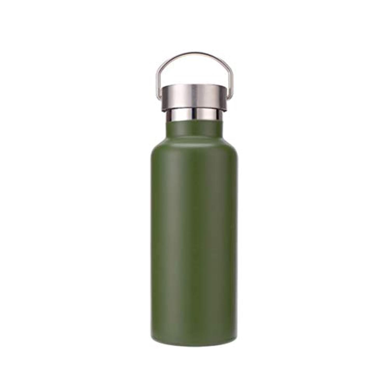 プラグアルバニー再開水筒 スポーツボトル ステンレス鋼 ダブル 保温マグ ダブルステンレスボトル 真空断熱 保温 保冷 ジャグ 2重 600ml