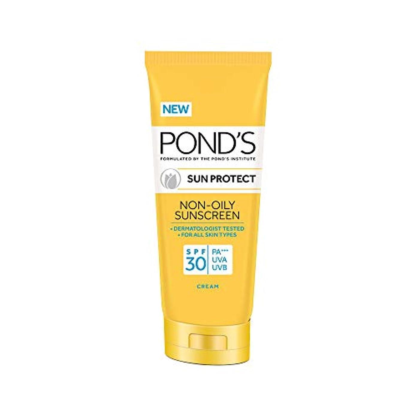 マーチャンダイザー老朽化した類推POND'S Sun Protect Non-Oily Sunscreen SPF 30, 80 g