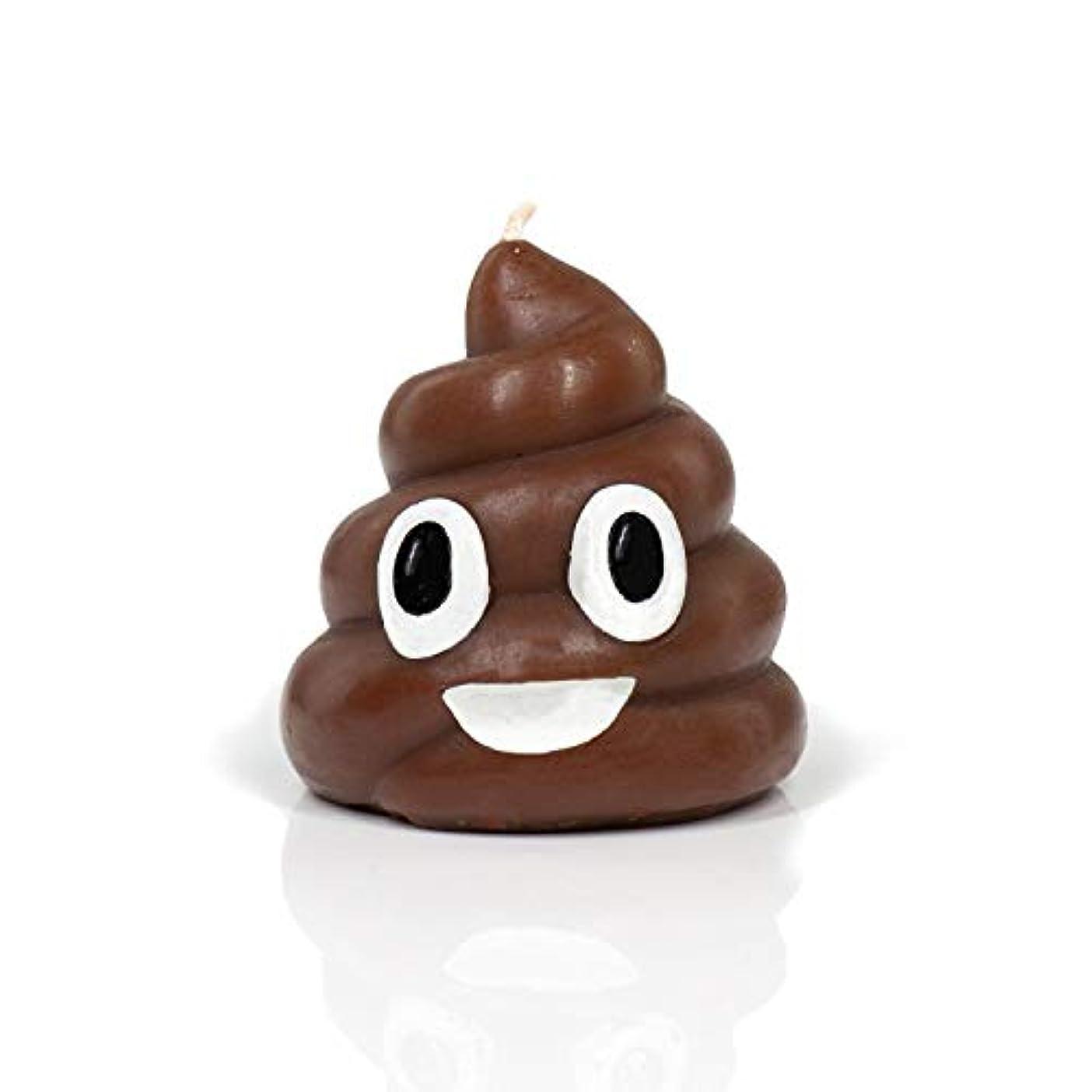 ベルベット慣らすメンタリティMy ShT Doesn't Stink Poop Emoji Candle, Rose Scented