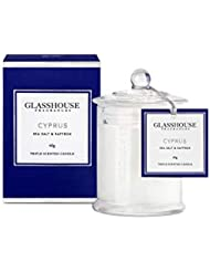 グラスハウス Triple Scented Candle - Cyprus (Sea Salt & Saffron) 60g並行輸入品