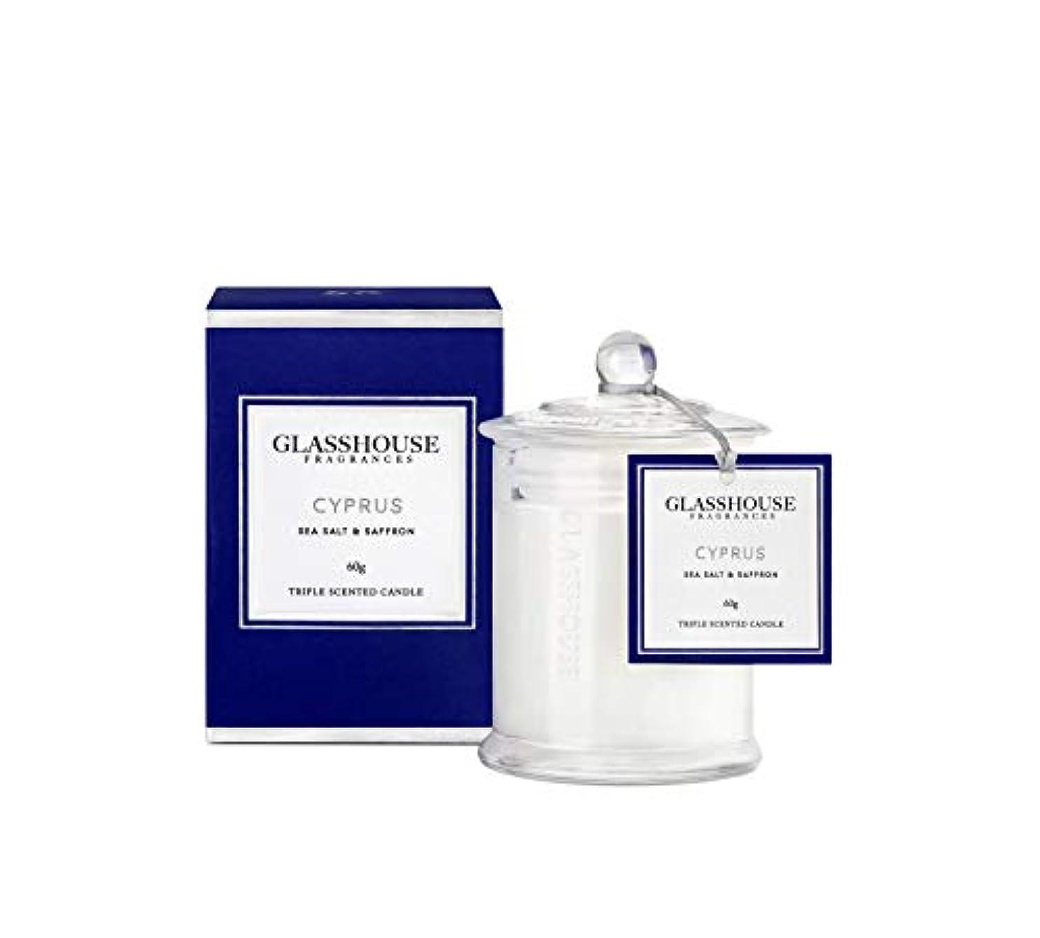 遠えクラフト包括的グラスハウス Triple Scented Candle - Cyprus (Sea Salt & Saffron) 60g並行輸入品
