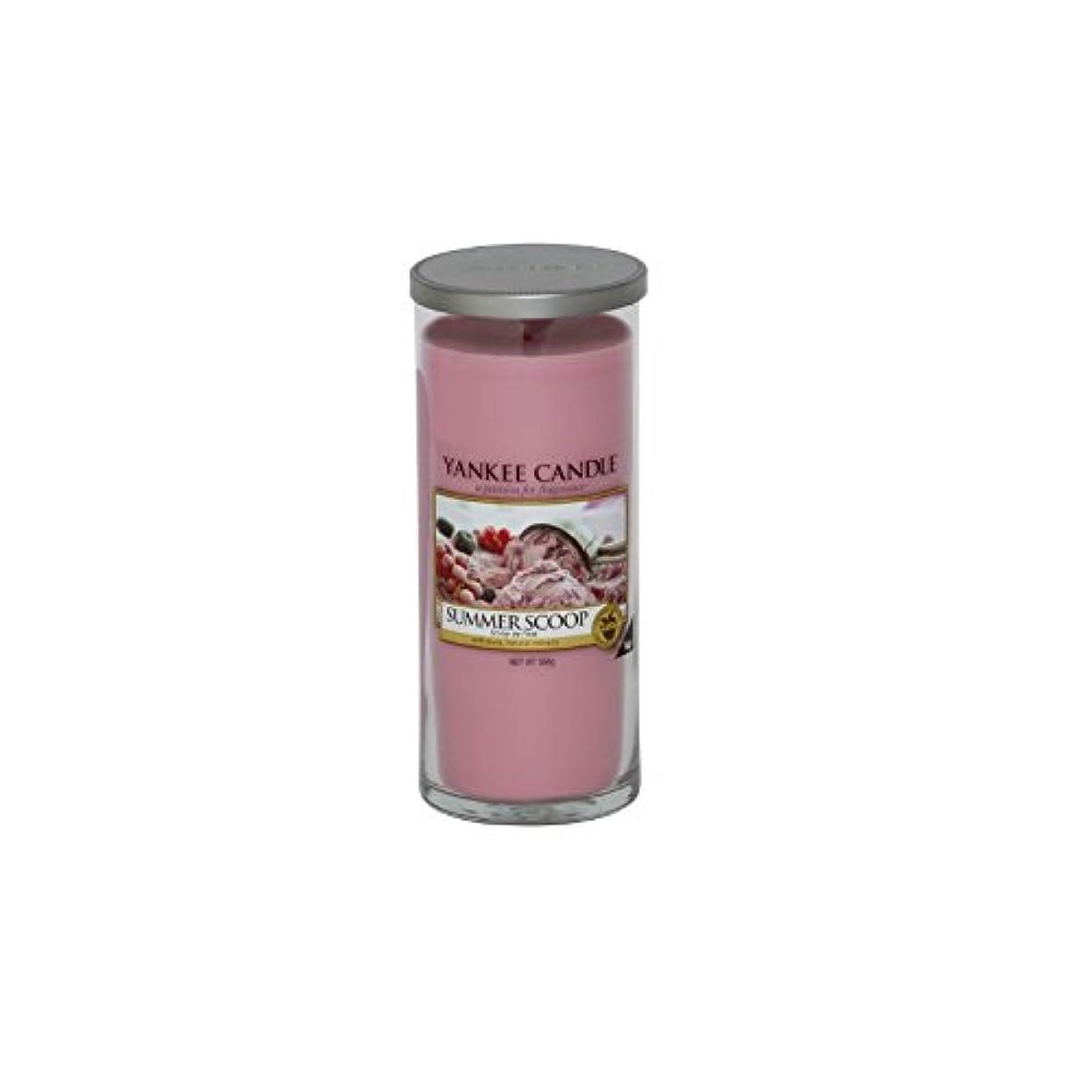玉ねぎ前進組み合わせYankee Candles Large Pillar Candle - Summer Scoop (Pack of 6) - ヤンキーキャンドル大きな柱キャンドル - 夏のスクープ (x6) [並行輸入品]