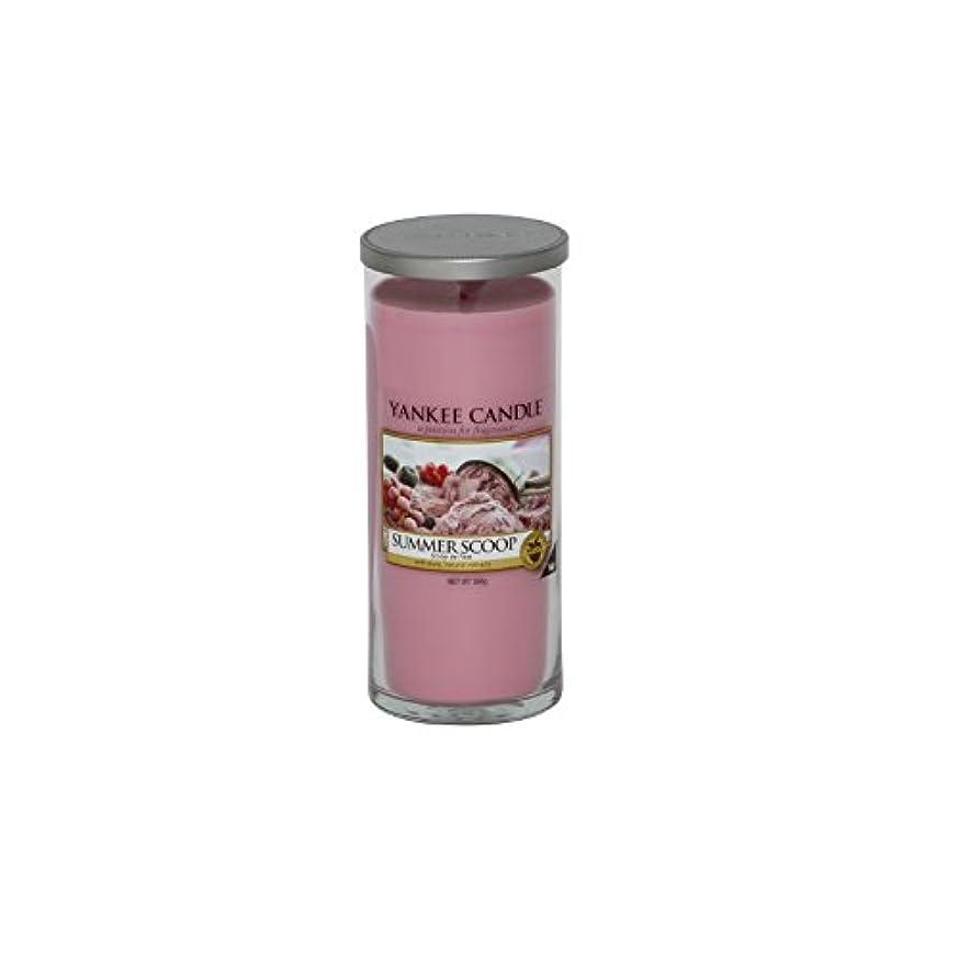 達成。火炎Yankee Candles Large Pillar Candle - Summer Scoop (Pack of 2) - ヤンキーキャンドル大きな柱キャンドル - 夏のスクープ (x2) [並行輸入品]