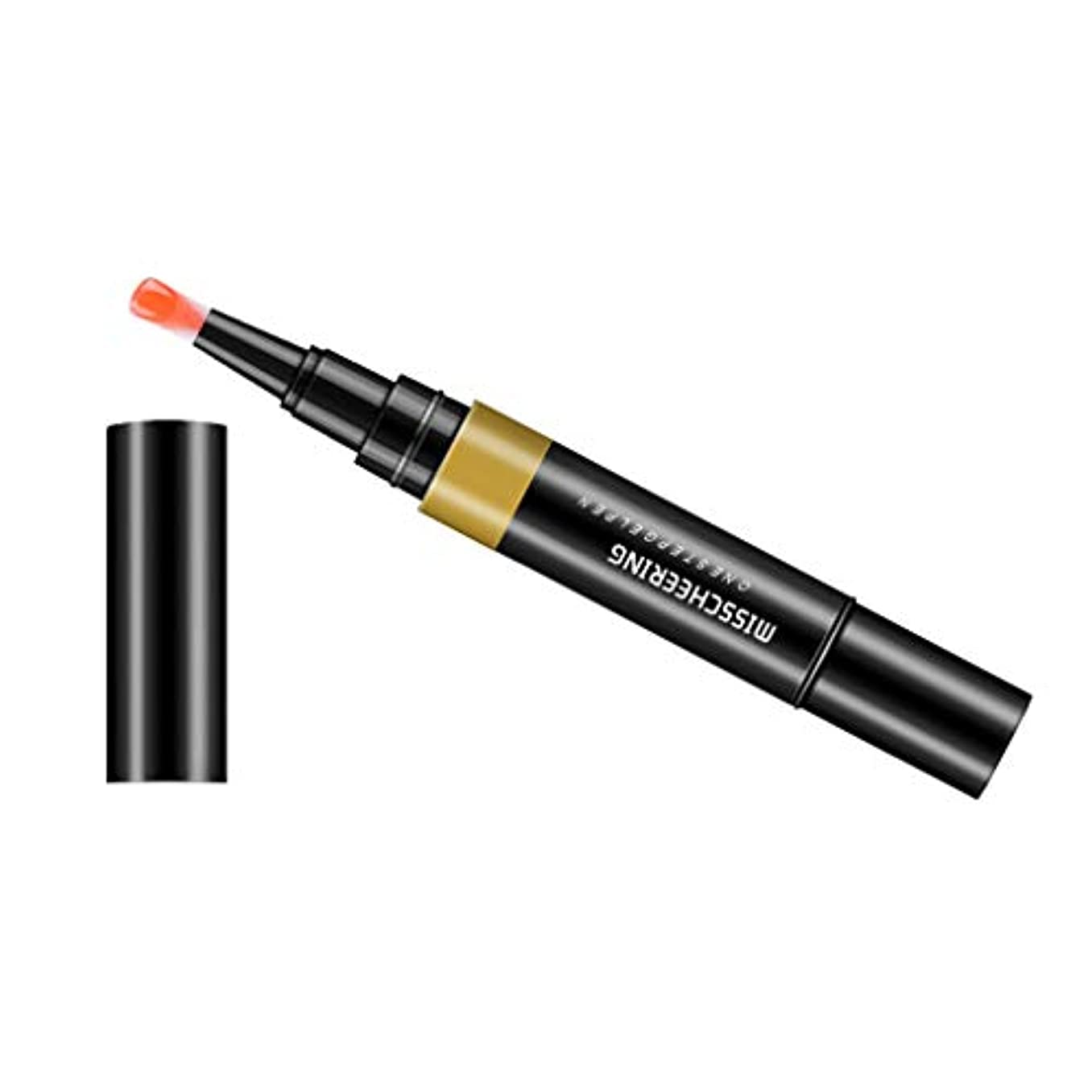 兵隊企業もちろんToygogo ジェル マニキュアペン ワニスラッカー ネイルアートペン 3 イン 1 サロン 初心者 セルフネイル DIY - オレンジ