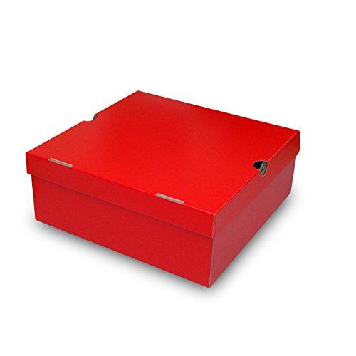 ムートンブーツ・ショートブーツ箱[N式タイプ] 赤(330×...