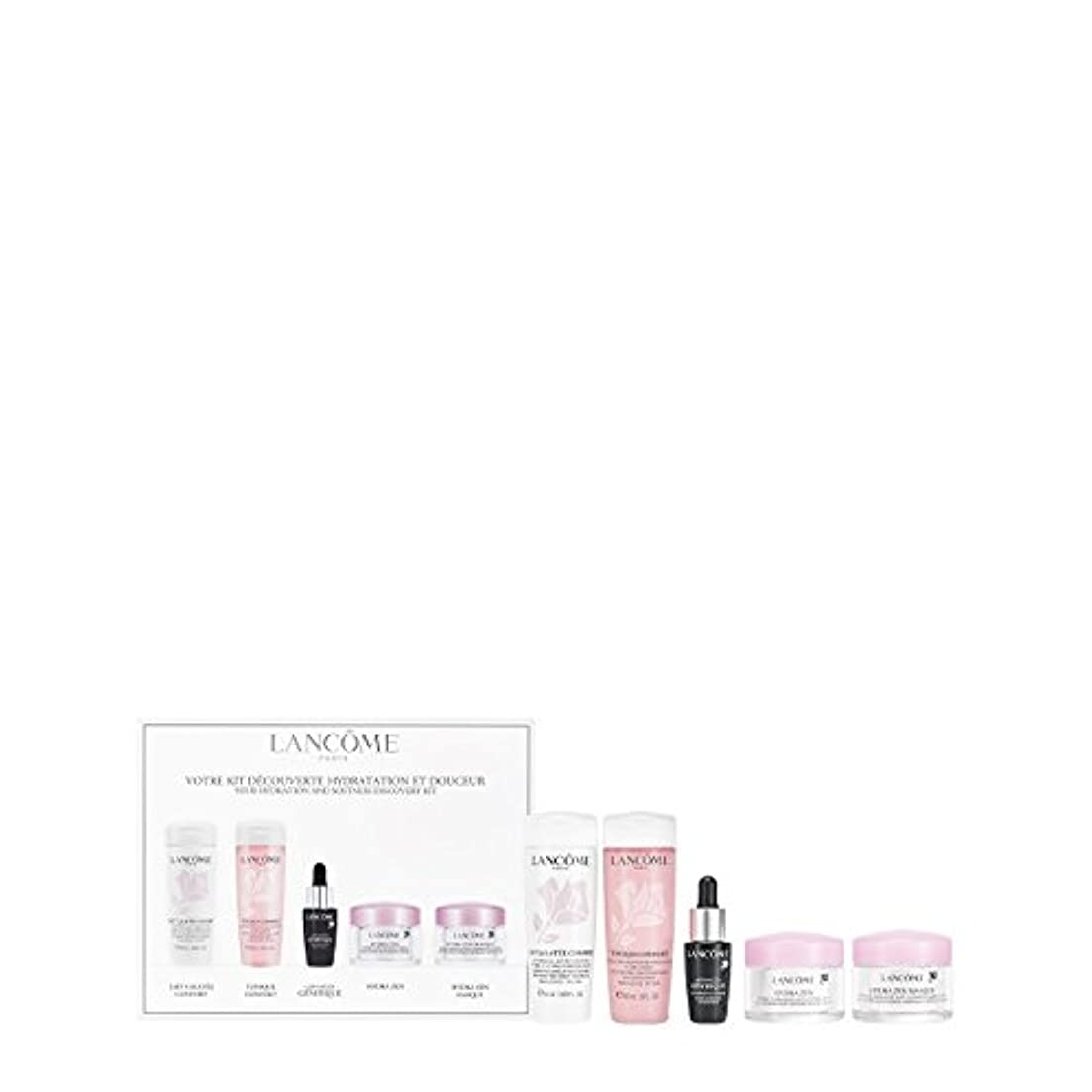バーガー安心させるインポートランコム Your Hydration & Softness Discovery Kit: Confort Galatee+Confort Tonique+Genifique Concentrate+Hydra Zen...
