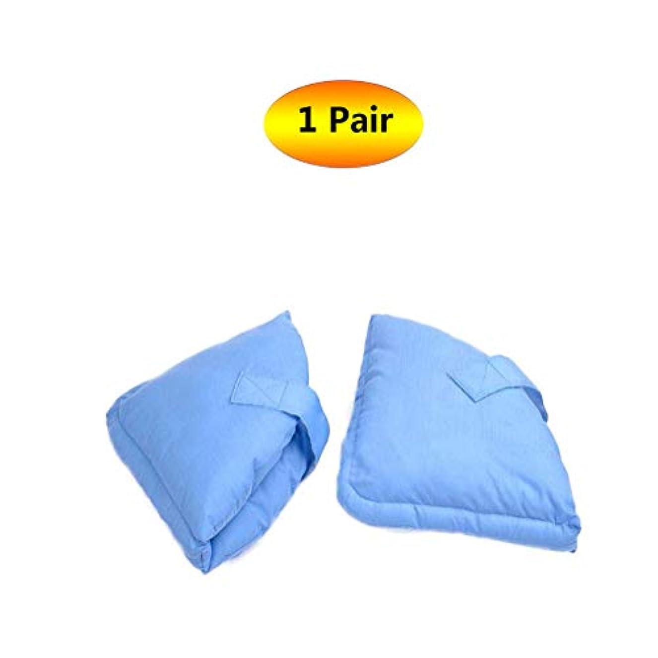 結び目疾患プレーヤーソフト慰めヒールプロテクター枕、ヒールフロートヒールプロテクター、高齢者の足補正カバー - ブルー