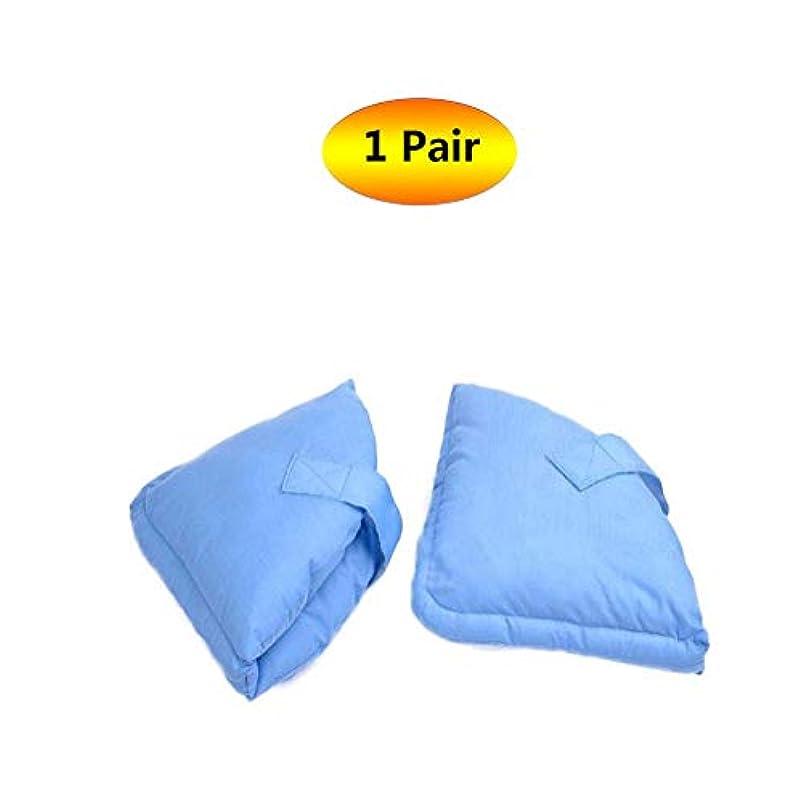 不健全調べる頑丈ソフト慰めヒールプロテクター枕、ヒールフロートヒールプロテクター、高齢者の足補正カバー - ブルー
