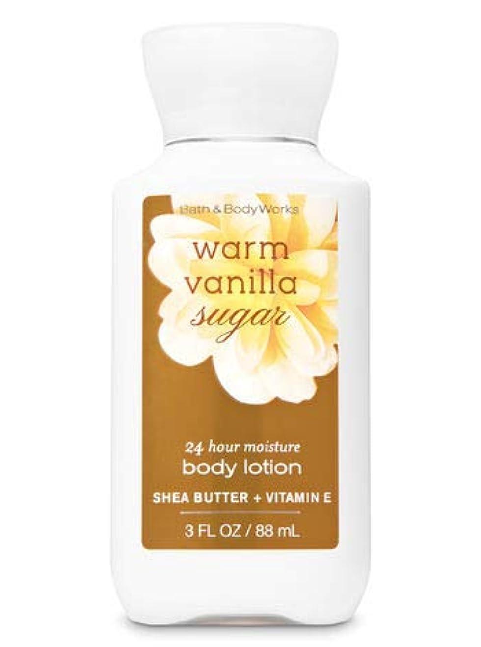 タイピスト離れて敵意Bath & Body Works ミニ ボディーローション- Warm Vanilla Sugar*???????? ?????【並行輸入品】