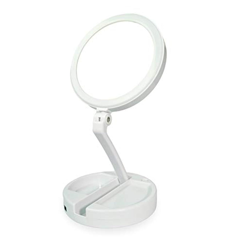 地図窒素メディカル化粧鏡 拡大鏡 化粧 等倍と10倍拡大鏡 ledライト付き 無段階調光 折りたたみ式 360°回転 高さ調整可 収納しやすい 化粧用鏡 卓上鏡