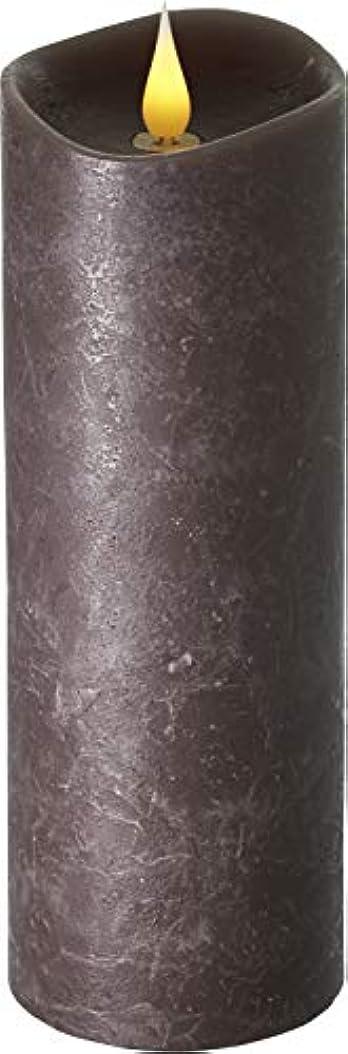 欺批評旅行代理店エンキンドル 3D LEDキャンドル ラスティクピラー 直径76×高さ235mm ブラウン
