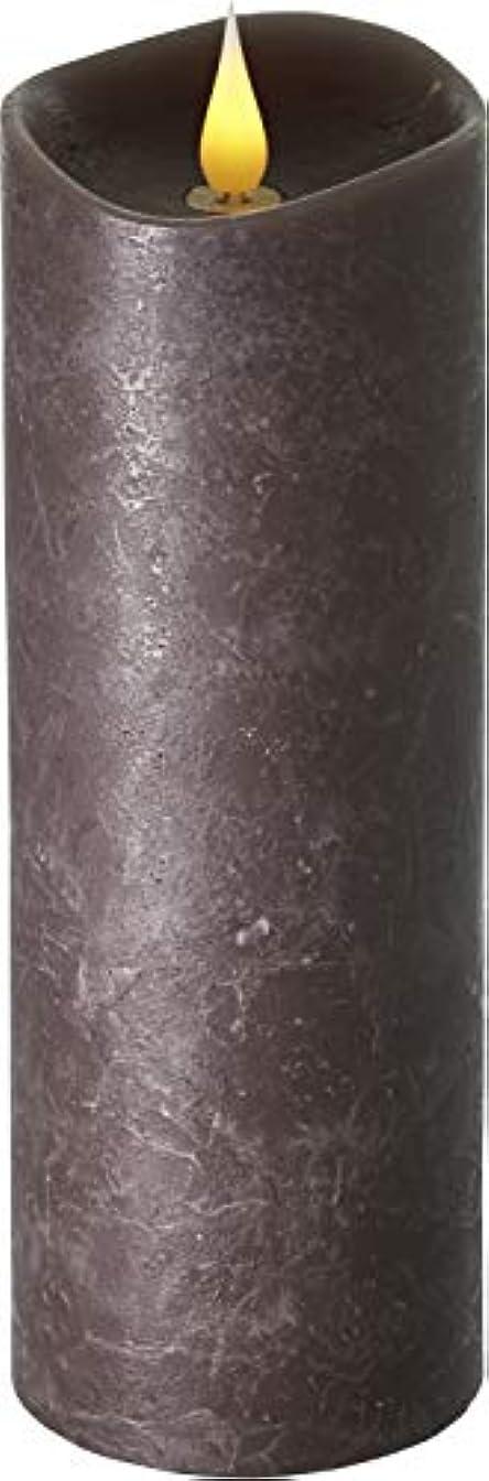 ジェスチャー有料ヒューバートハドソンエンキンドル 3D LEDキャンドル ラスティクピラー 直径76×高さ235mm ブラウン