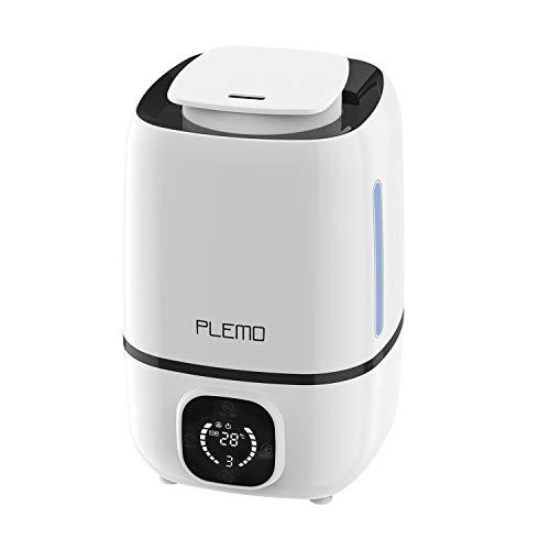 PLEMO アロマディフューザー 加湿器 超音波式 3.0L 大容量 タッチ操作 空焚き防止 静音設計 連続加湿