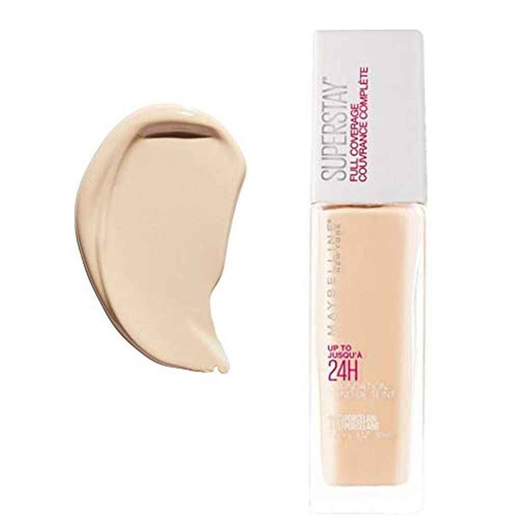文苦行宣言する(3 Pack) MAYBELLINE Superstay Full Coverage Foundation - Porcelain 110 (並行輸入品)