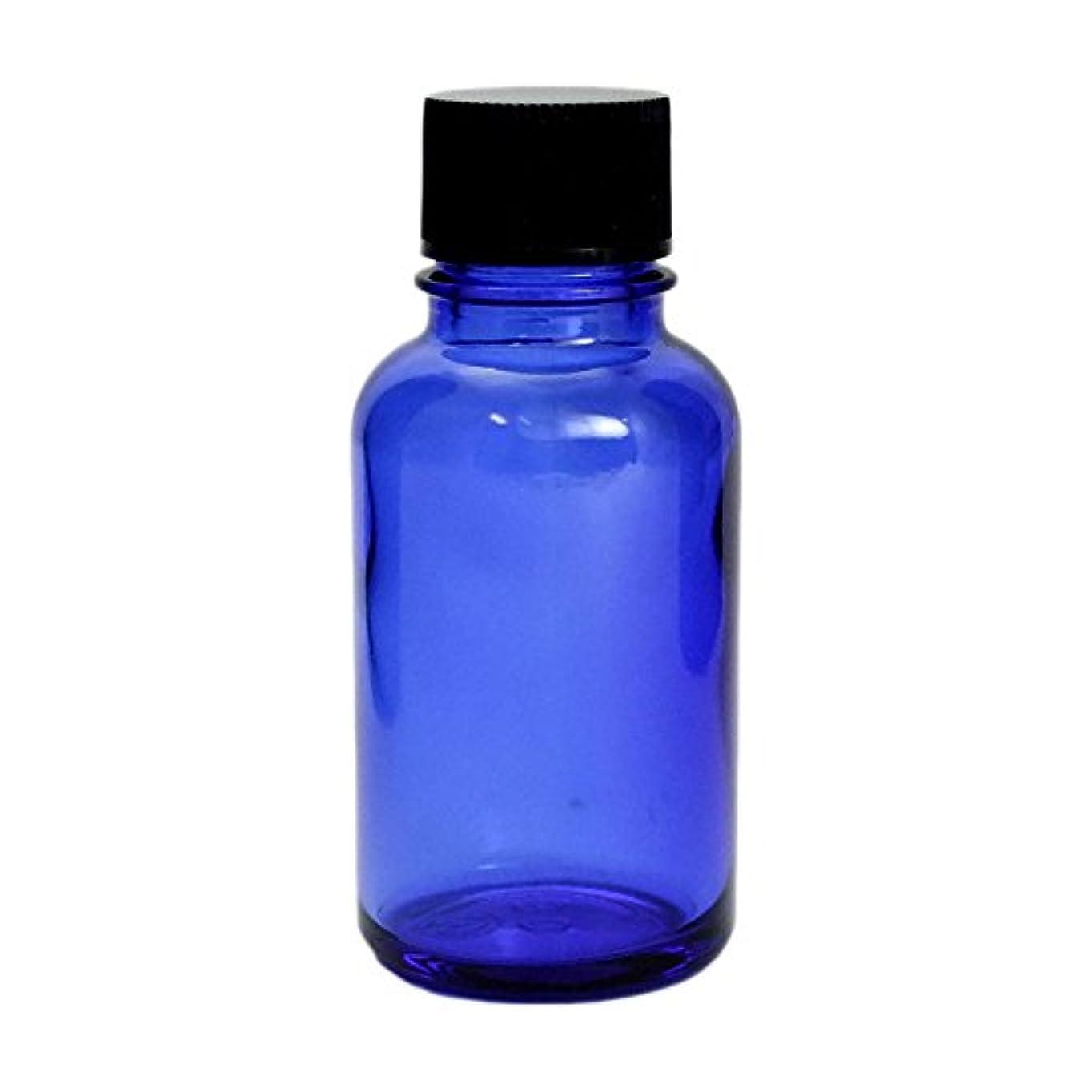 ダウンタウン死の顎邪魔する遮光瓶 ブルー 30cc SYA-B30cc (黒CAP ドロップ栓付)