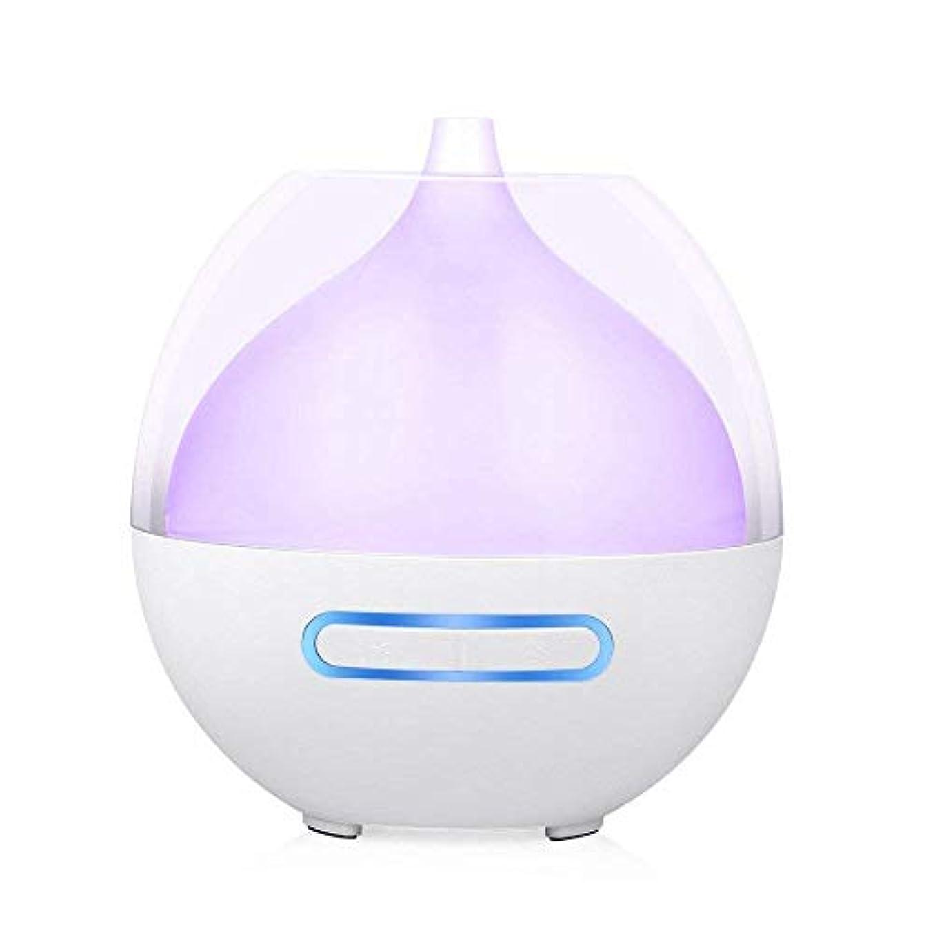アロマエッセンシャルオイルディフューザー80ml超音波アロマ加湿器調整可能なミストモード水なし自動的にシャットオフする空気清浄機、7つの変更可能な色のLEDライト
