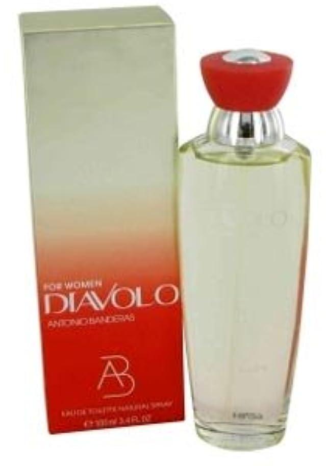 突破口ハグ本物Diavolo (ディアボロ) 3.4 oz (100ml) EDT Spray by Antonio Banderas for Women
