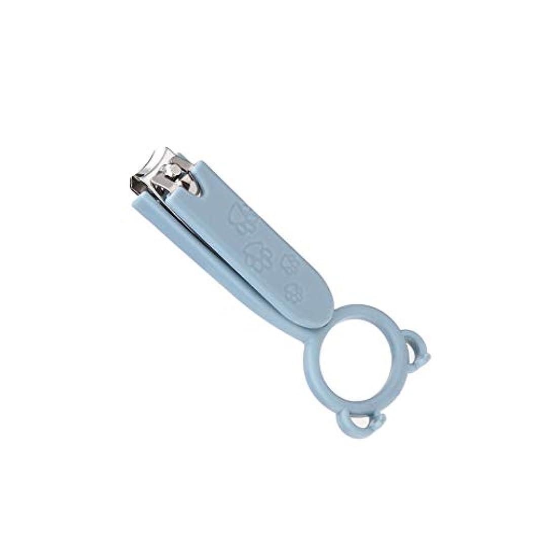 不良品モニター補正ファッション爪切り折り畳み可能爪切り多機能 爪切りミニ携帯電話ホルダー、ブルー、1個