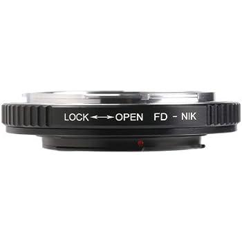 K&F Concept レンズマウントアダプター KF-FDF (キヤノンFDマウントレンズ → ニコンFマウント変換) 無限遠補正レンズ付き