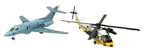 プラッツ よみがえる空 航空自衛隊 UH-60J&U-125A 1/144スケール プラモデル PD-24