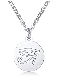 XUANPAI Stainless Steel Eye of Horus Ancient Egyptian Symbol Pendant Necklace God Spiritual Gift
