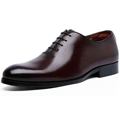 [フォクスセンス] ビジネスシューズ 紳士靴 メンズ 本革 プレーントゥ 内羽根 革靴 ブラウン 24.0CM 6721