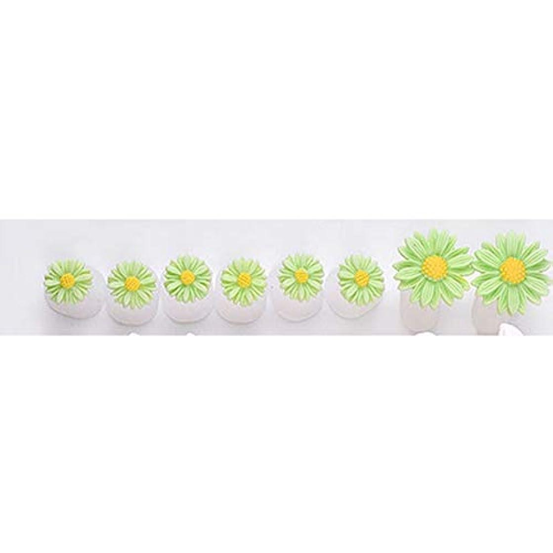 開発エスカレーターラダ8つのシリカゲルつま先セパレータのデイジーの花のデザインのつま先の爪のツールペディキュアフットケアギャップ