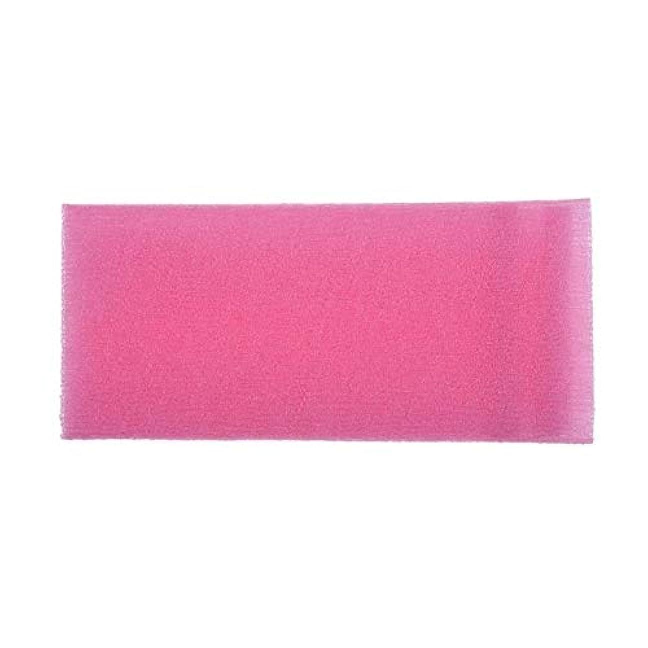 ピル派生する実行バスルーム用品 2ピースロングナイロンメッシュ風呂シャワーボディ洗濯きれいなパフスクラブタオル布スクラバーボディフェイスウォッシュクリーニングタオル (色 : ピンク)