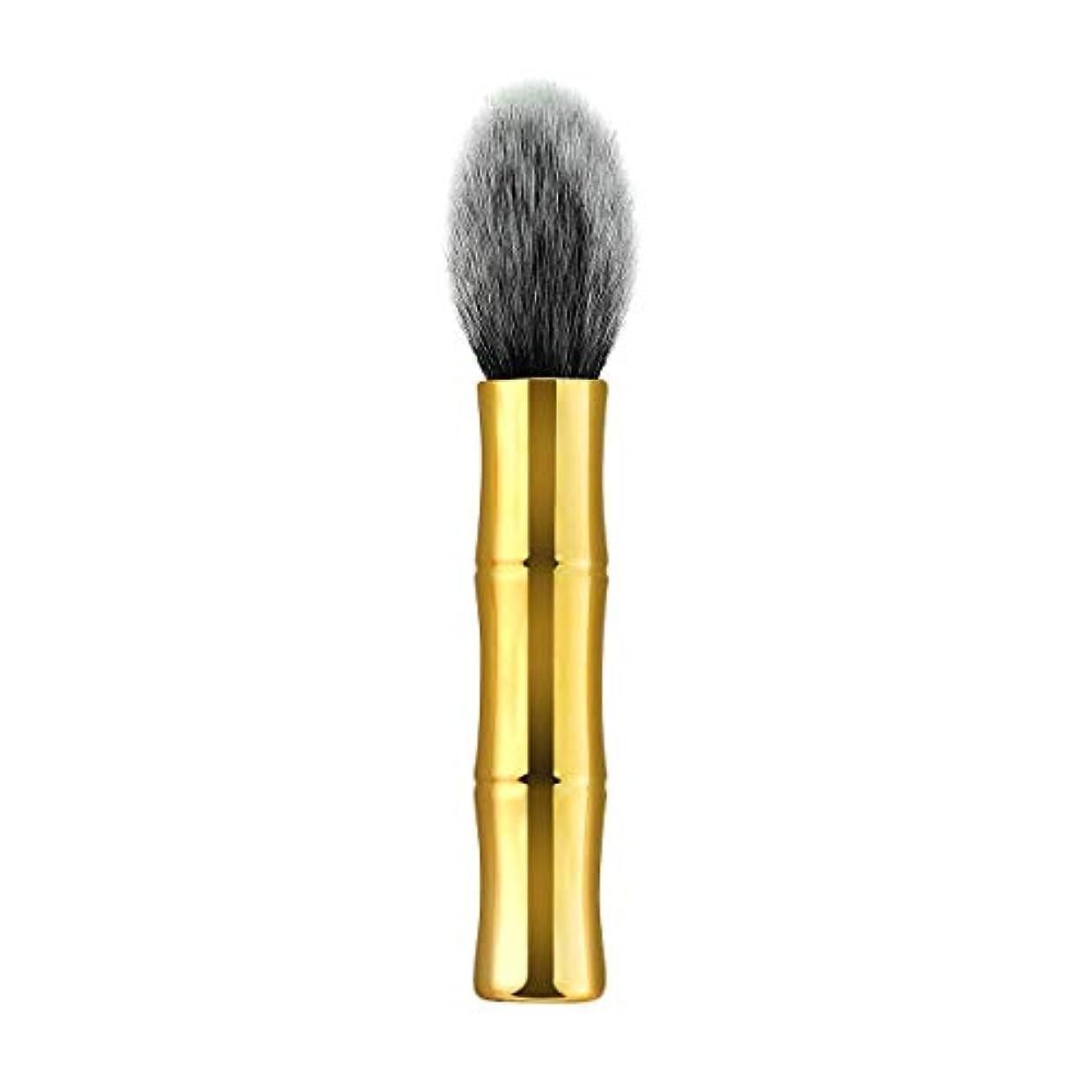 符号メタルライン酔っ払いLurrose 女性のためのソフトナイロン剛毛化粧ブラシ化粧品パウダーブラッシュブラシ(TM-104)を処理します。