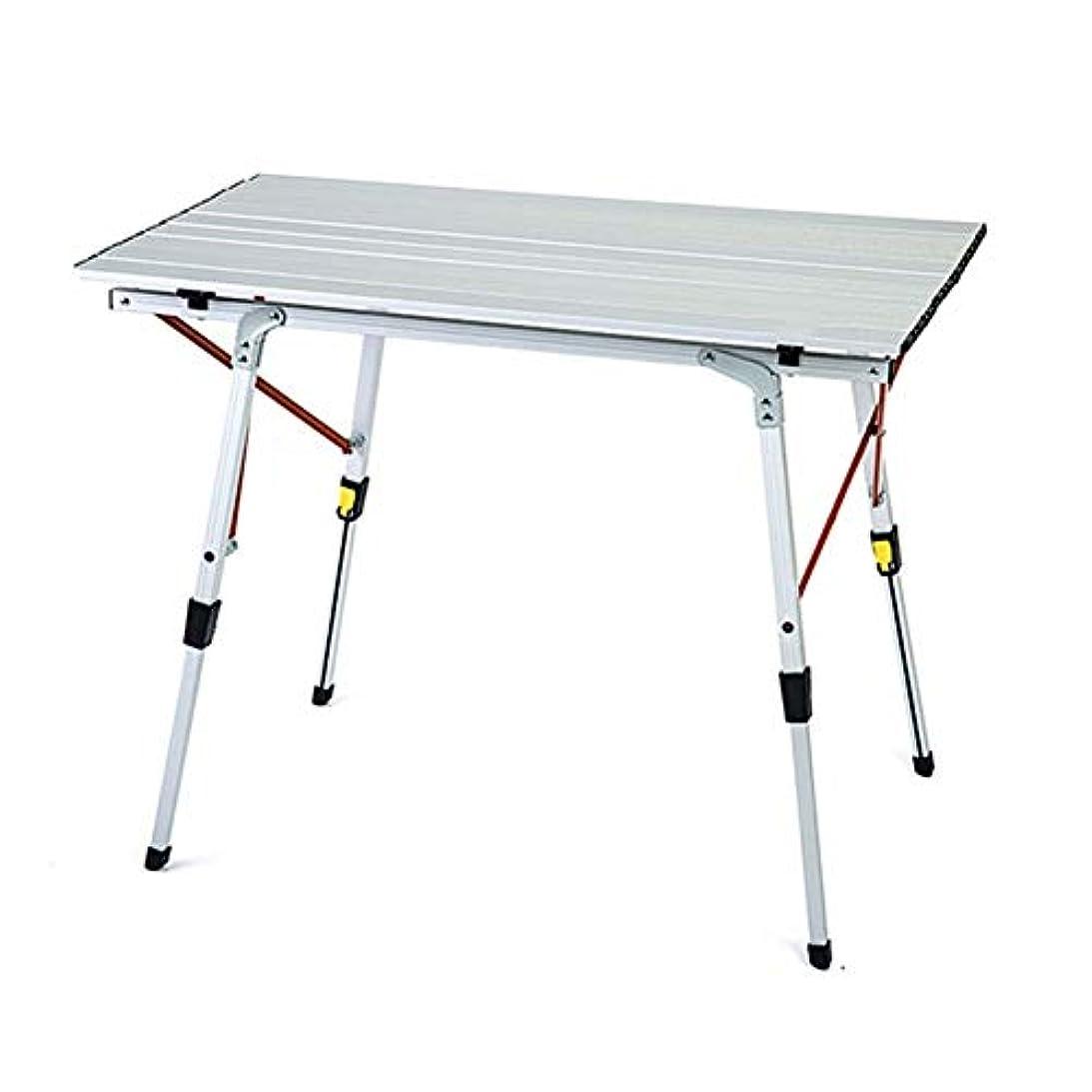 完全に乾くメトロポリタン見分けるNJLC折りたたみサイドテーブル、屋外アルミ折りたたみテーブルポータブルピクニックテーブル