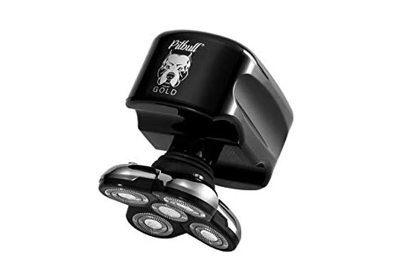 ゆるい喉が渇いた優雅なSkull Shaver (スカルシェーバー) メンズシェーバー 5つの回転刃の 電動シェーバー (ゴールド)