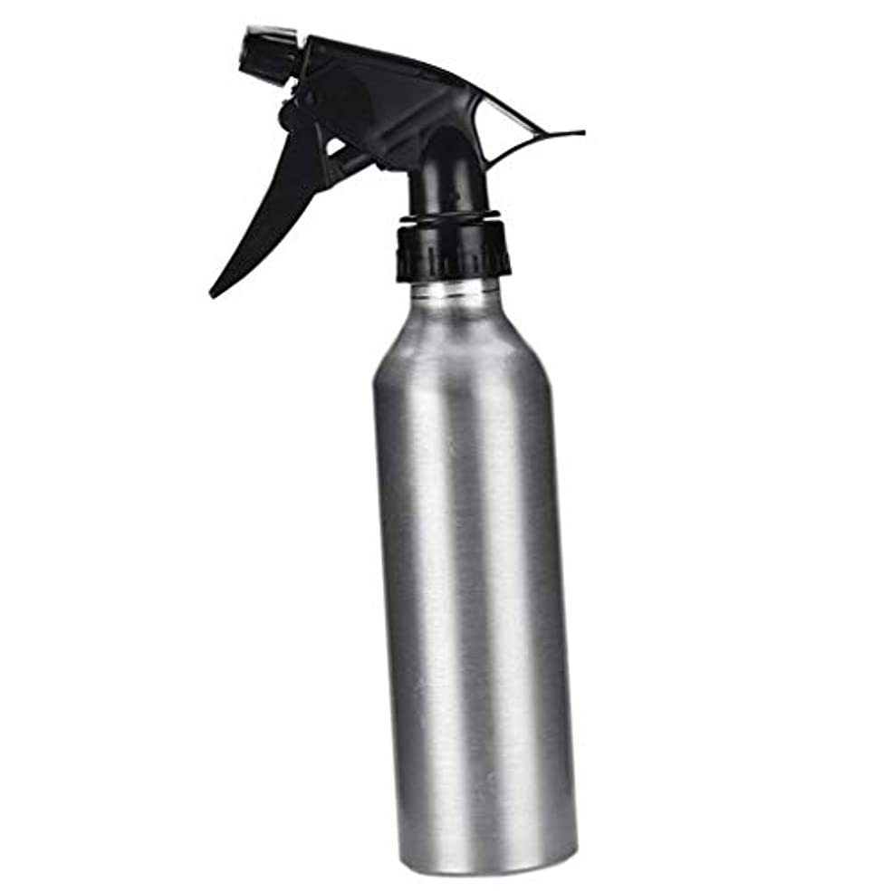 血まみれあごひげヒップアルミ スプレーボトル 化粧品ボトル 霧吹き 詰め替え容器 漏れ防止 園芸料理用美髪師用噴霧器全2色 - 銀