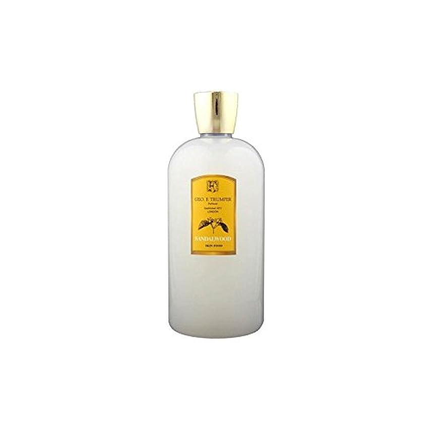 石油マンハッタン反響するサンダルウッドスキンフード - 500ミリリットル旅 x2 - Trumpers Sandalwood Skin Food - 500ml Travel (Pack of 2) [並行輸入品]