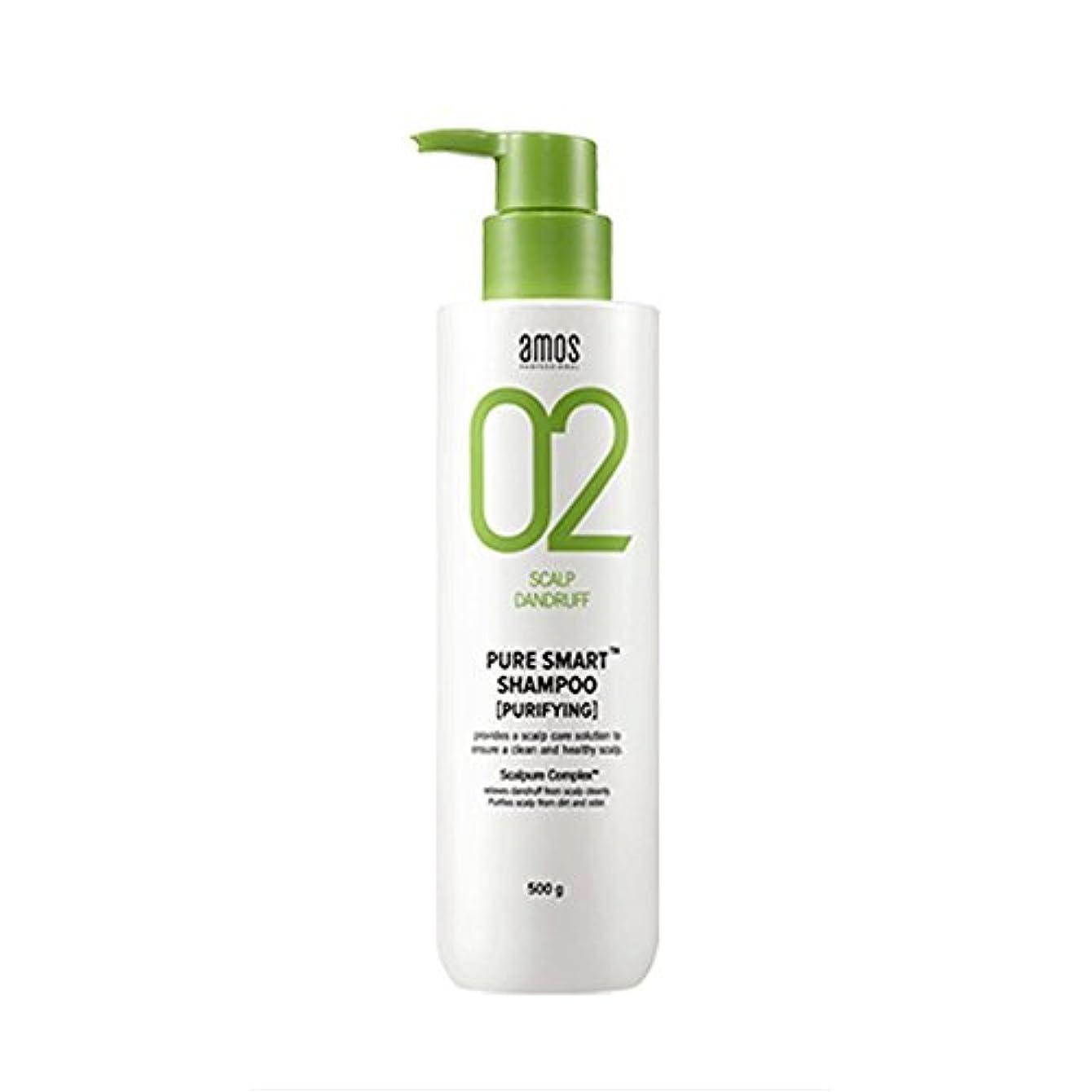 捨てる滑る知るAmos Pure Smart Shampoo 500g Dandruff Shampoo フケ専用シャンプー [並行輸入品]