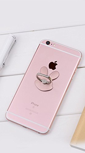 [ARTASY WORKSHOP®][並行輸入品] カワイイ スマホ 専用 電話リング フラワー 猫 ウサギ バタフライ リングスタンド 落下防止 360度回転機能 Smart Phone Hold Ring (ウサギ)