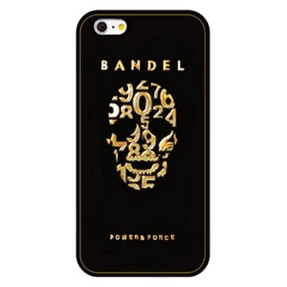 発生する範囲トライアスロンバンデル(BANDEL) スカル iPhone 7専用 シリコンケース [ブラック×ゴールド]