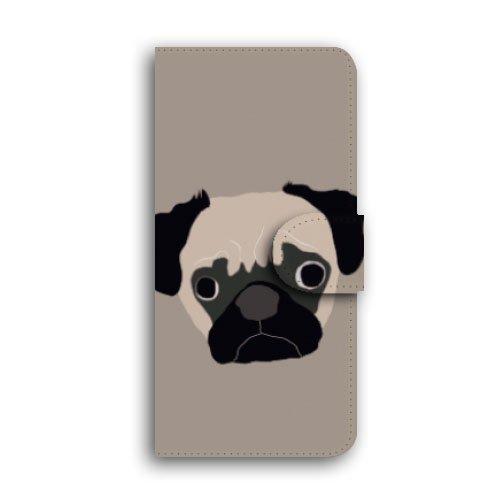 iPhone ケース 手帳型 スマホケース キャメル ミラー&カードスロット付き 【iPhone 7 Plus / DOG / 1-パグ】 iPhone 7 iPhone 7 Plus iPhone 6s iPhone 6s Plus iPhone 6 iPhone 6 Plus アイフォン7プラス