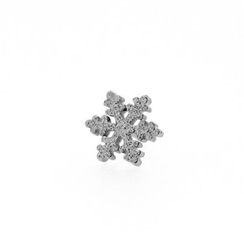 [해외]N2 stone 눈송이 (눈송이   스노우 크리스탈) 사지 카루 귀걸이 16G (약 1.2mm) 바디 피어싱~ 롭~ 헬기~ 토라가스]/N2 stone Snow Crystal (Snow Flake   Snow Crystal) Surgical Stainless Steel Earrings 16G (about 1.2 mm) [Body Piercing~ Rob~...
