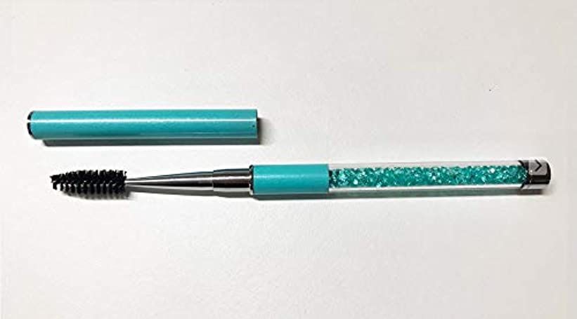 ティーム好みアンソロジージュエリー アイラッシュブラシ ブルー メイクブラシ スクリューブラシ マツエク まつ毛エクステ つけまつ毛 まつげ ブラシ アイラッシュ