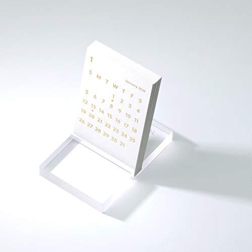 JACKAL クララ デスク カレンダー 2020 ホワイト 卓上カレンダー