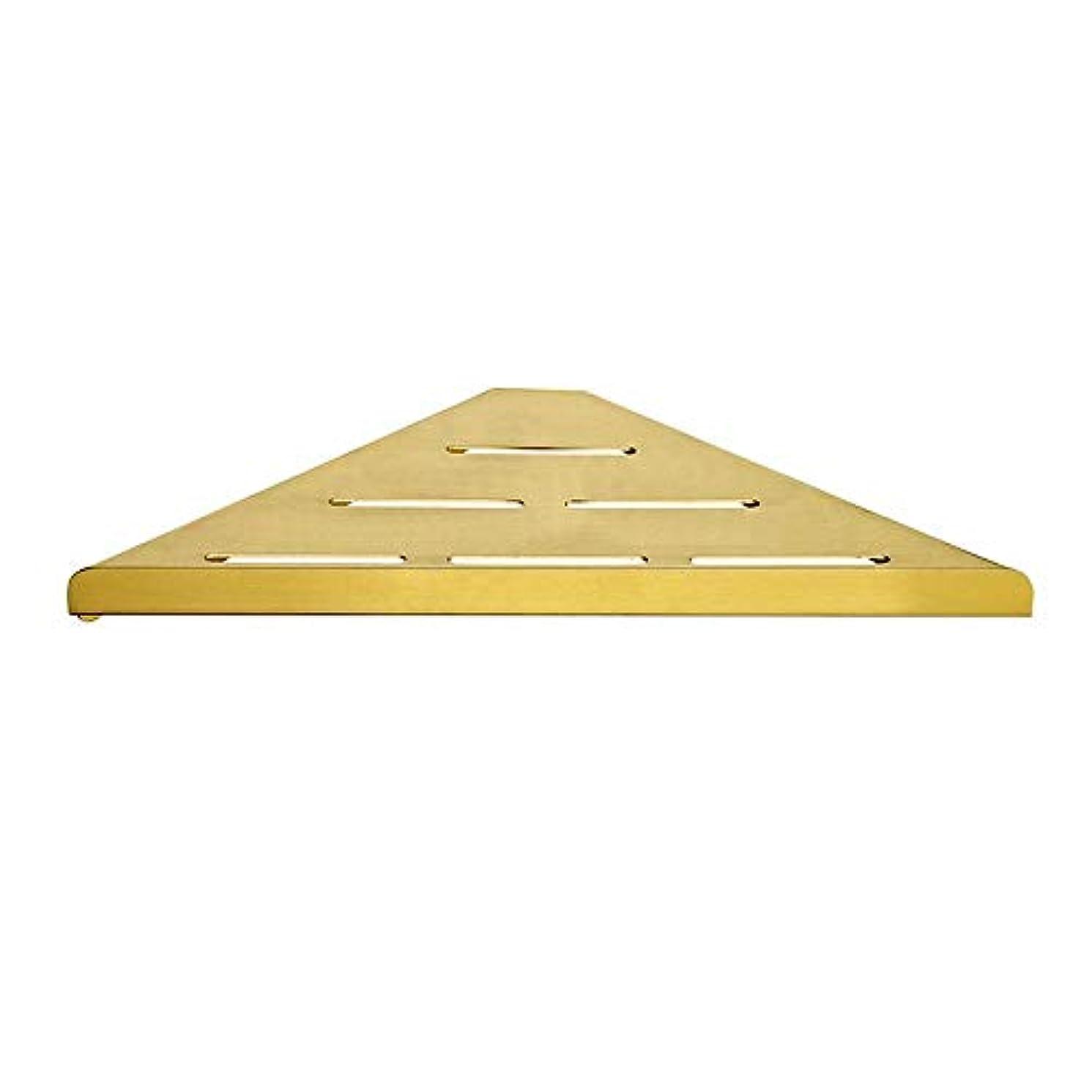 潜水艦に渡って電話するDBCSDの三角形の浴室のコーナーの棚SU 304のステンレス鋼のオルガナイザーのホールダーの贅沢な貯蔵の棚の金の銅のデッサンの隔壁の壁に取り付けられた