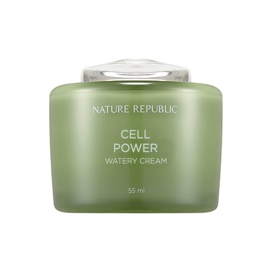 起訴する咽頭技術Nature Republic Cell Boosting Watery Cream 55ml / ネイチャーリパブリックセルブースティングウォーターリークリーム 55ml [並行輸入品]