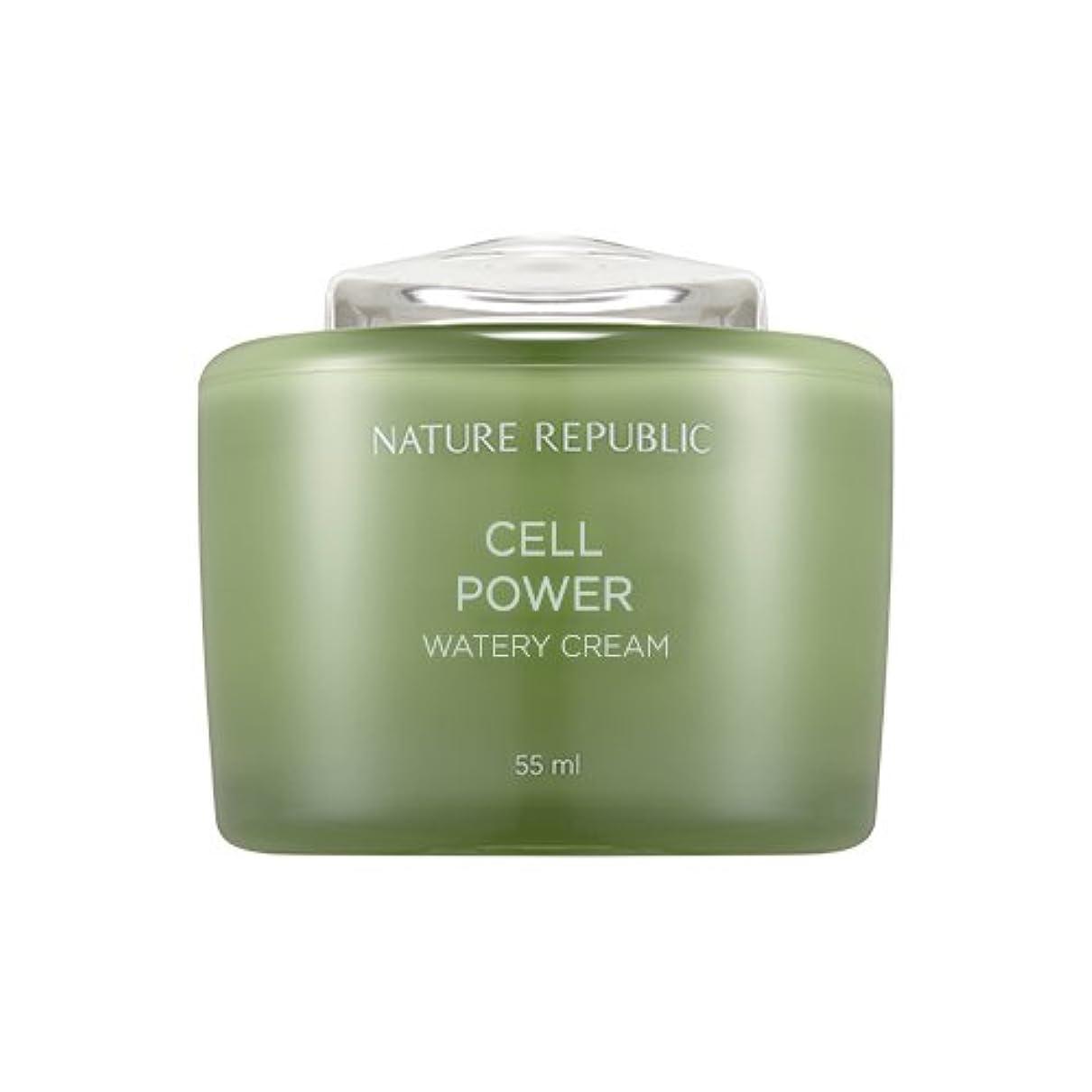 電極雰囲気可塑性Nature Republic Cell Boosting Watery Cream 55ml / ネイチャーリパブリックセルブースティングウォーターリークリーム 55ml [並行輸入品]
